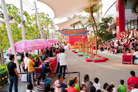 BANGKOK,/THAILAND-JANUARY 20:  lion dance dressing during parade in Chinese New Year Celebrations on January 20, 2013 in BANGKOK Stock Photo - 17713358