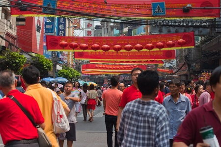 BANGKOK,Chinatown/THAILAND-February 10:Chinese New Year traditions Chinese New Year Celebrations on February 10, 2013 in BANGKOK  Stock Photo - 18046132