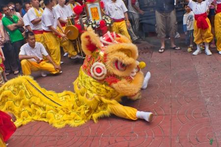 BANGKOK,ChinatownTHAILAND-February 10:Chinese New Year traditions Chinese New Year Celebrations on February 10, 2013 in BANGKOK