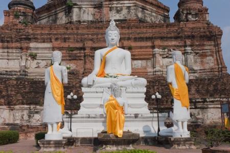 Buddha at Watyaichaimongkol Ayutthaya Province,Thailand Stock Photo - 18215731