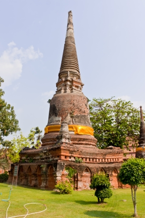 Buddha at Watyaichaimongkol Ayutthaya Province,Thailand photo