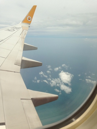 view from jet plane windows