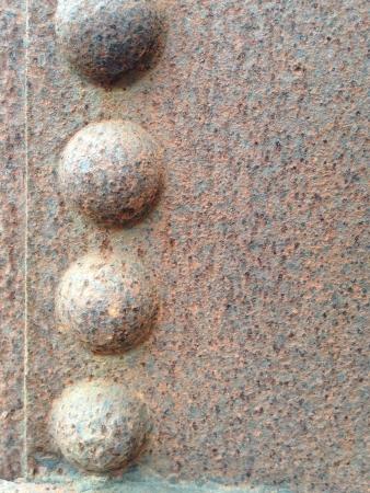 metallic: rusty metallic frame background