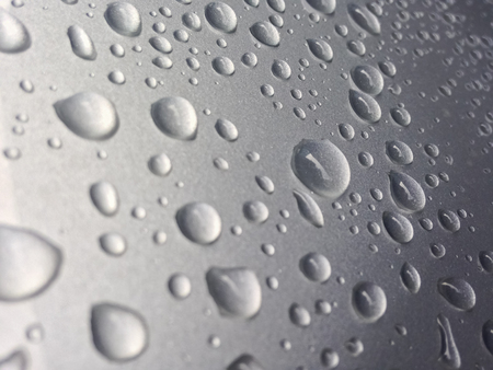 h20: Water drops on a clean blanket iron