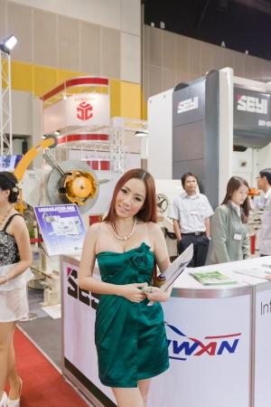 BANGKOK THAILAND - NOVEMBER 20-23 at Bitec Bangna, Bangkok, Thailand Exhibition Machinery for the production.thai metalex   November 20-23, 2013