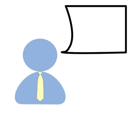 forget: Business man drawing  isolated background