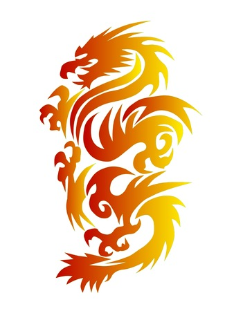 drawing  dragon   Stock Photo