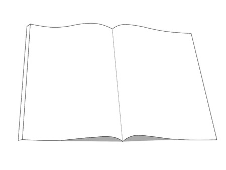book drawing icon  open book with isolated on white  Stock Photo