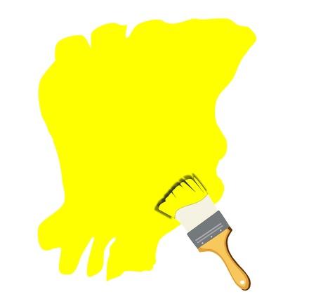 Paint brush drawing  Stock Photo