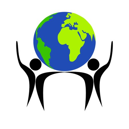 founder: Earth and people symbol