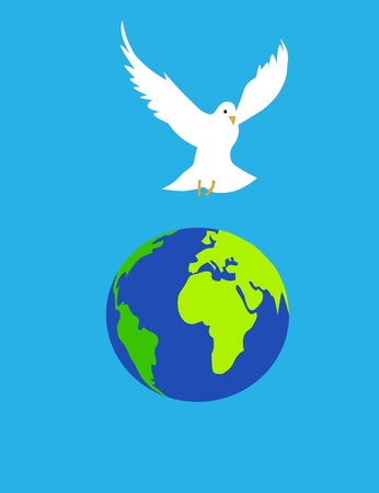 globe terrestre dessin: Globe libre oiseau Banque d'images