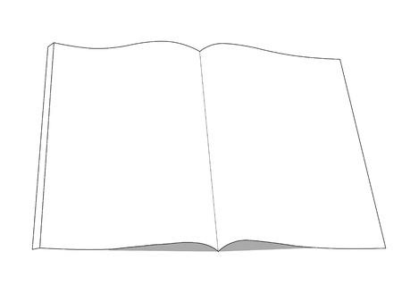 28081846 icono de dibujo libro libro abierto con aislados en blanco