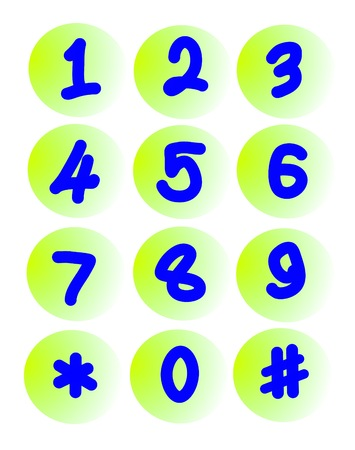 drawing number on white background  Illustration