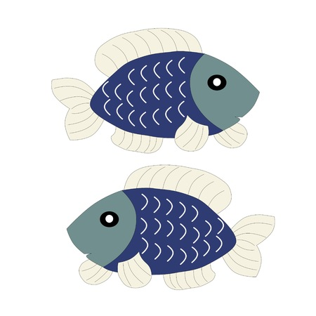 Fish painting Vector