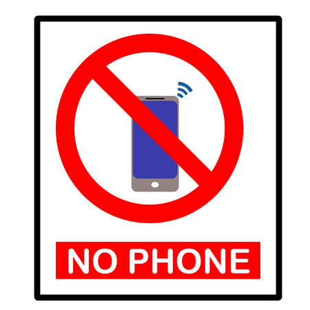 no cell: Vector no cell phone sign