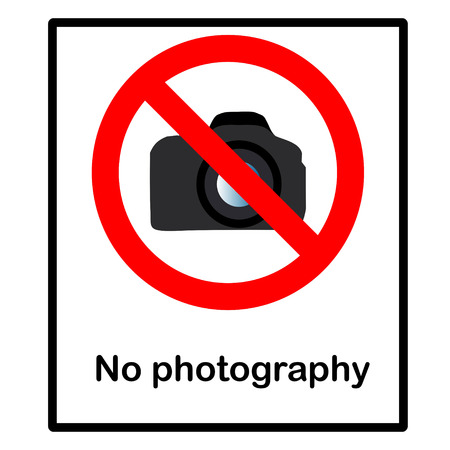 No photography sign, vector illustration  Vector