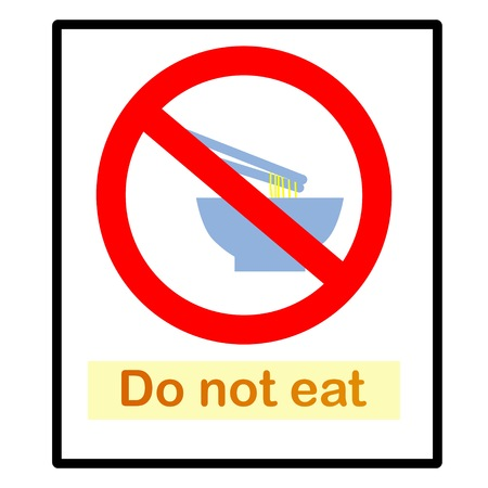 Do not eat  Signs  Vector