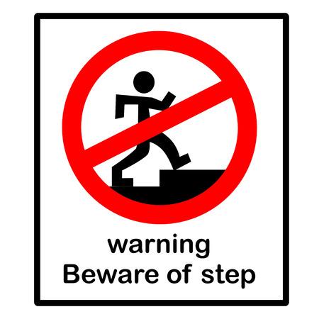 warning  beware of step Illustration