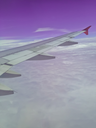 Sky view from inside the Airplane