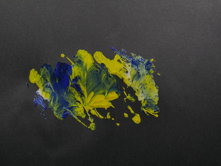 water color On a black background