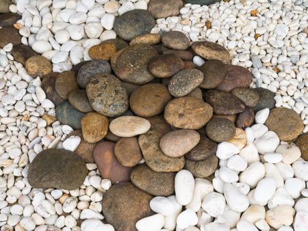 Grey and white small sea stones
