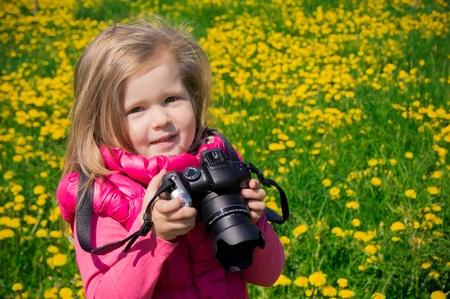 teddy wreath: Little photographer girl