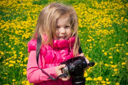 Little photographer girl photo