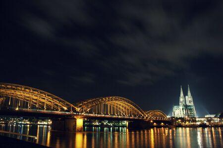 Hohenzollern bridge at night