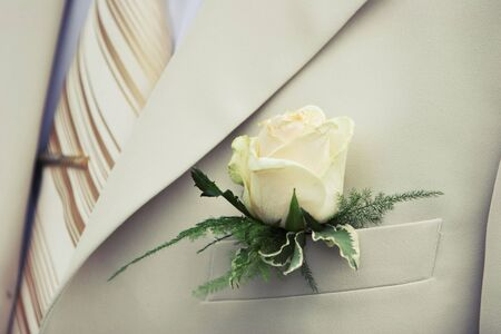 buttonhole: White wedding buttonhole