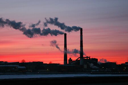 Chimneys with smoke: global warming concept Stock Photo - 3202188