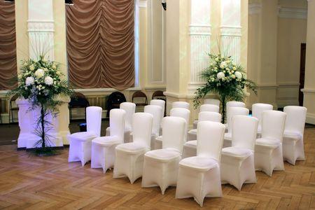 Wedding hall and chairs