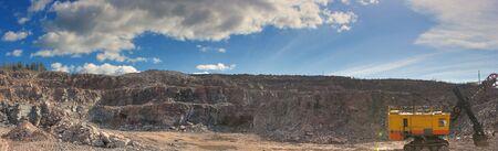 Panorama of canyon mine high resolution photo