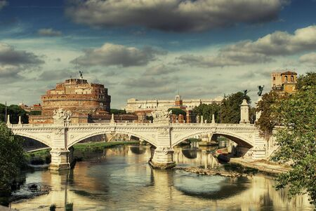 angelo: Postcard of Rome, Castle St. Angelo, St. Angelo bridge