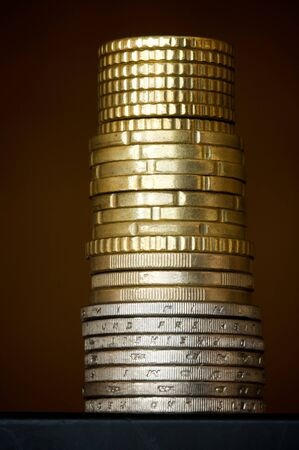 Column of coins photo