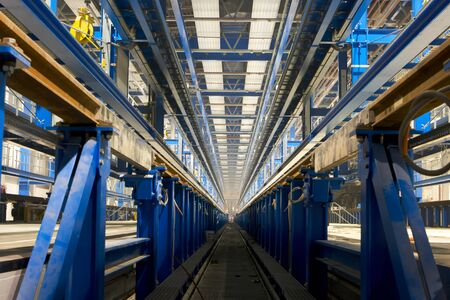 inside factory area Stock Photo