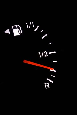 gas gauge: gas gauge Stock Photo