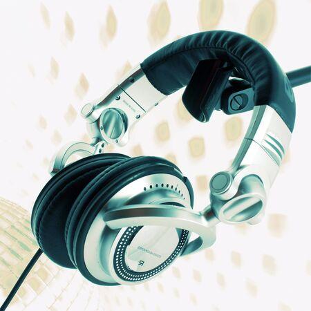 audifonos dj: Auriculares para DJ Foto de archivo