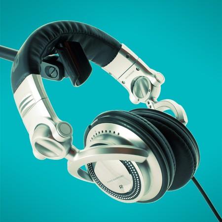 DJ headphones Stock Photo - 4237272