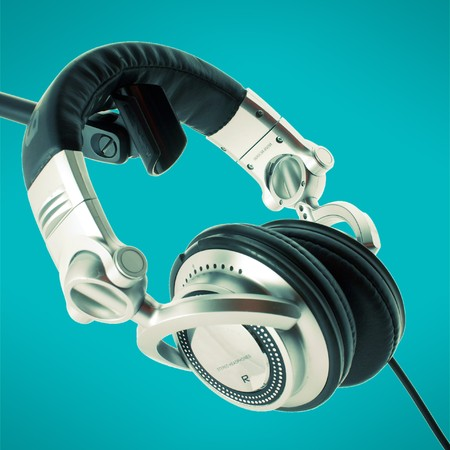 DJ headphones Stock Photo - 4237272