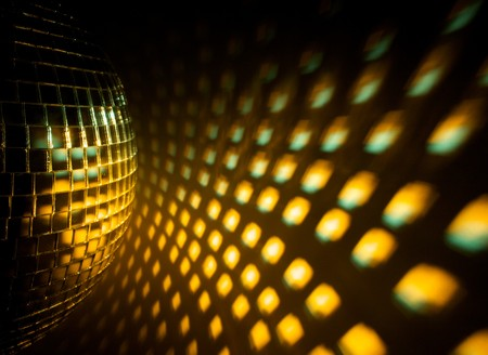 dancefloor: Disco ball Stock Photo