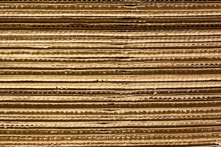 corrugated cardboard: Corrugated stacked cardboard Stock Photo
