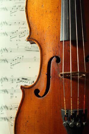 part of an antique violin