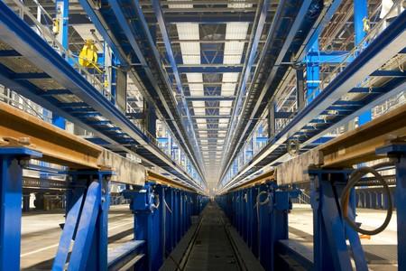 innerhalb Fabrikgelände  Standard-Bild