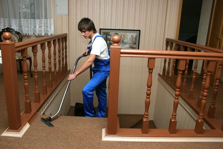 carpet clean: professional cleaning Stock Photo