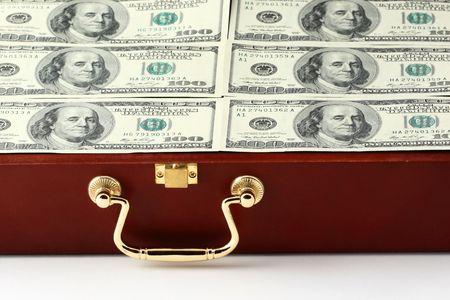 case with money closeup photo