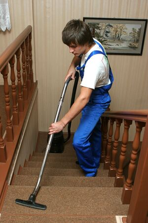 carpet wash: professional cleaning Stock Photo