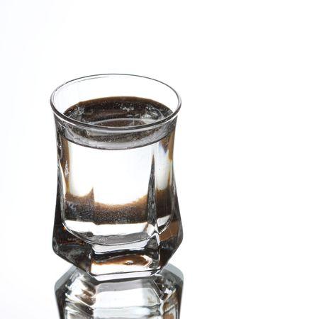vodka on white