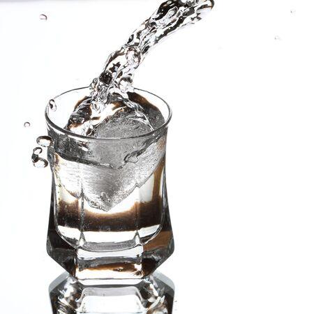 vodka splash Stock Photo