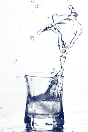 shaken: vodka splash Stock Photo