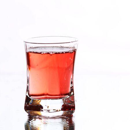 red vodka on white